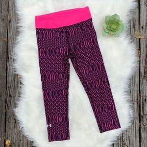 Under Armour Graphic Pink Compression Leggings